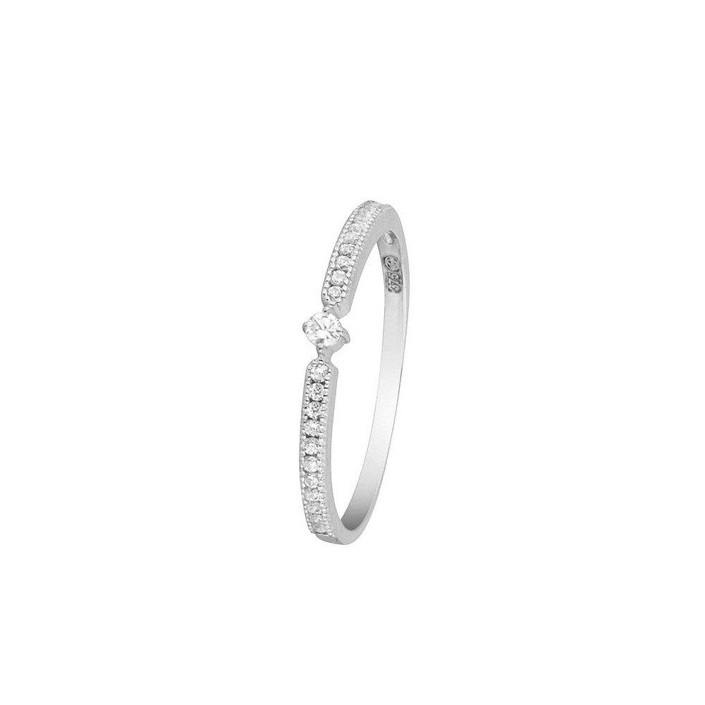 Bague Or Blanc et oxydes de zirconiumRavissante Mes-bijoux.fr BI91049Ggv_52