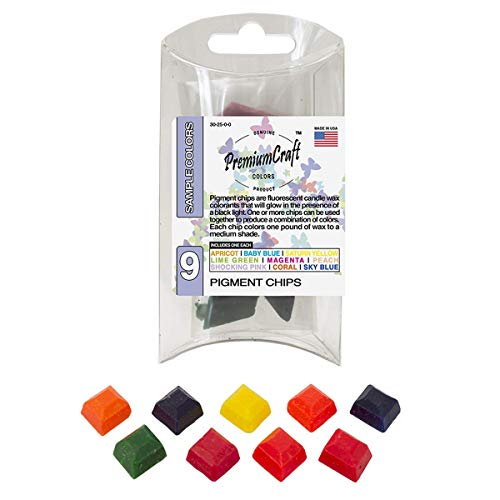 PremiumCraft Candle Dye Pigment Chip Sample Pack, 9 Colors (for Black ()