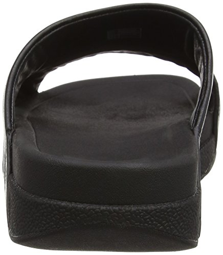 Fitflop Bando Leather Slides, Sandali a Punta Aperta Uomo Black (All Black)