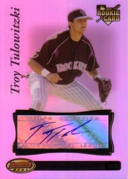 2007 Bowman's Best #90 Troy Tulowitzki Certified Autograph Baseball Card