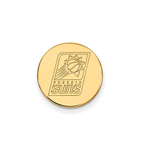 NBA Phoenix Suns Lapel Pin in 14K Yellow Gold by LogoArt