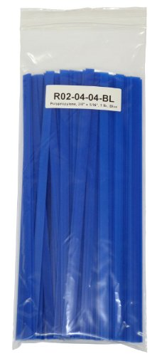 Polypropylene (PP) Plastic Welding Rod, 3/8 in. x 1/16 in. Ribbon, 1 lb, Blue