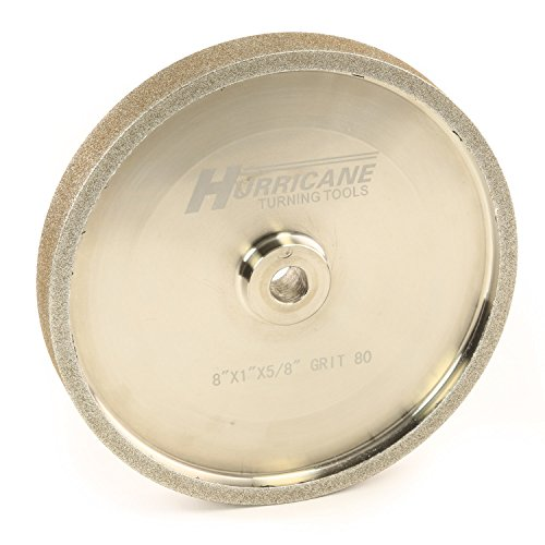 "Hurricane 8"" CBN Grinding Wheel, 80 Grit, for Sharpening High Speed Steel Tools"