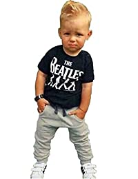 Newborn Baby Boy Clothing Set Summer The Beatles T shirt Harem Pants Outfit Set