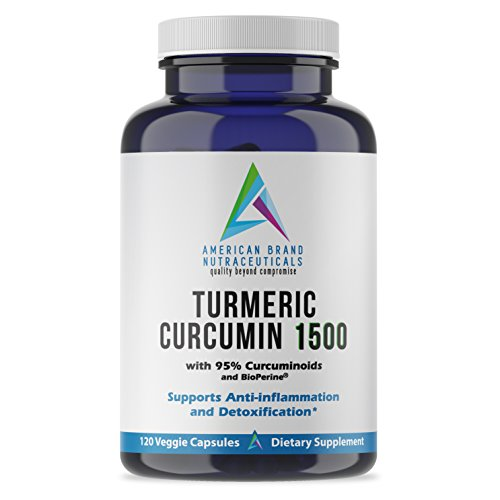 Turmeric Curcumin 1500 with 95% Extract and BioPerine (black pepper) for optimized absorption. Natural Veggie caps provide 60 high-dose servings. Give up NSAIDS and choose a healthy alternative