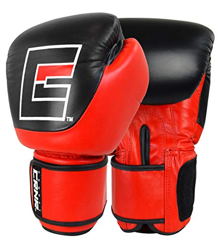 (Competition Boxing Gloves | Punch Bag Mitts Sparring Punching Training MMA Fighting Sports | Red | 8 oz)