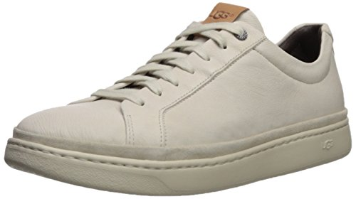 UGG Men's Cali Lace Low Leather Sneaker, Parchment, 11.5 M US (Leather Uggs)