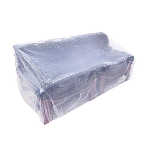 - HGMart Plastic Outdoor Sofa Cover 5.5 Mil Extra Thick Pet Dog Cat Furniture Cover Waterproof Dust-Proof for Garden Lawn Patio Furniture Protector (Sofa)