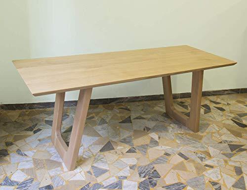 Ebanisteria Gambella - Mesa de comedor moderna en madera de castano