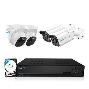 Reolink 4K Caméra de Surveillance Extérieure, Kit Vidéo Surveillance avec 8CH 2To NVR et Caméra IP PoE 4X 8MP, Détection…