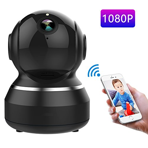 Dabenie Wireless IP Camera 1080P, WiFi Home Surveillance Security Camera for Baby/Elder/Pet/Nanny Monitor, Pan/Tilt, Two-Way Audio & Night Vision (Black)
