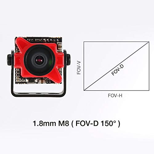 Wikiwand Foxeer Predator V2 FPV Micro Camera Cam with 1.8mm Lens OSD 1000TVL WDR NTSC by Wikiwand (Image #7)