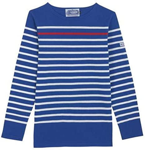 Camisa Breton Co. Picasso Royale | Azul y Blanco Rayas Pescador Francés Marinero Top Marino Manga Larga Algodón Orgánico