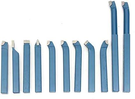 Qualitäts-CNC-Drehmaschine Werkzeug-Zubehör Gespitzte Lathe Turning Tool Set 10x10mm Shank Mini Lathe Werkzeugbit Set gelöteten Hartmetall 11Pcs