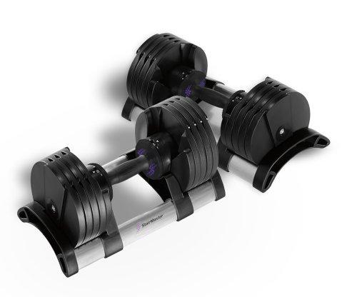 StairMaster Pair of TwistLock Adjustable Dumbbells (100-Pounds)