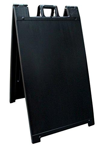 Plasticade Signicade Curb Sign / A-Frame 24x36' Color:Black