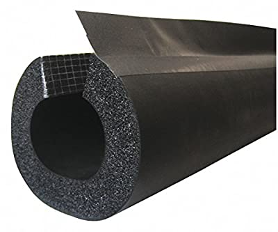 """1-5/8"""" x 6 ft. Elastomeric Pipe Insulation, 1/2"""" Wall"""