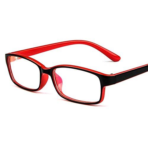 Cadre de lunettes pour enfants - Eyeglasses pour enfants Clear Lens Lunettes de lecture rétro pour filles Garçons - Juleya Rouge