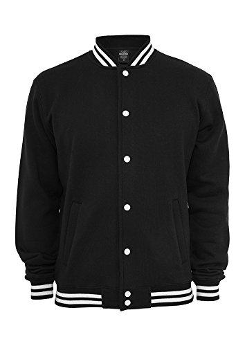 College Uomo Sweatjacket Classics Nero Urban Felpa Fwq5AI
