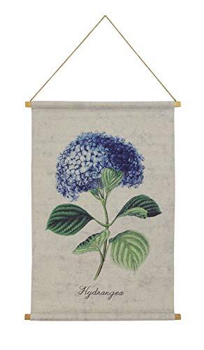 Habitat Hydrangea Linen Hanging Tapestry Blue