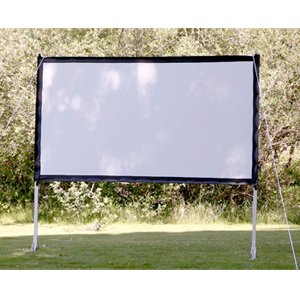 portable outdoor movie theater projection screen setup your backyard movie theater in minutes