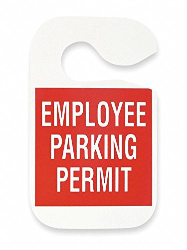 Employee Parking Permit,Red,PK5 by GRAINGER APPROVED (Image #1)