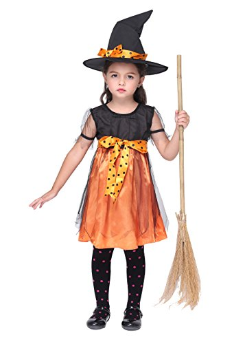 Vivihoo EK069 Halloween Witch Skirt Cosplay Sorceress Party Costume For Little Girl (L) (Cute Indian Costumes For Girls)