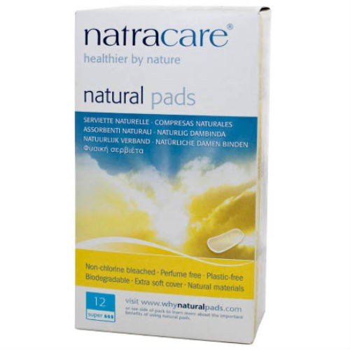 (2 Pack) - Natracare - Maxi Pads Super | 12pads | 2 PACK BUNDLE