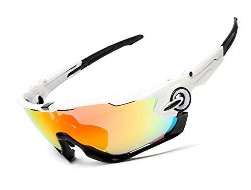 FELL SPORT 2016 Newest Outdoor Sports Fashion Sunglasses Great For Cycling Driving Hiking Skiing or Fishing.Changeable Lenses and Unbreakable High - 2016 Hiking Sunglasses