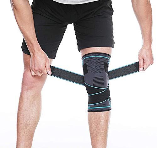 Attelle de soutien du genou avec sangles réglables pour hommes et femmes, protège-genoux professionnel pour déchirure du…