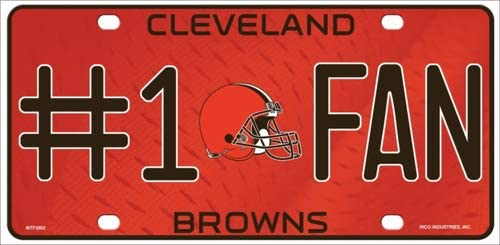 With Sticky Notes Bargain World Cleveland Browns Fan Metal Novelty License Plate