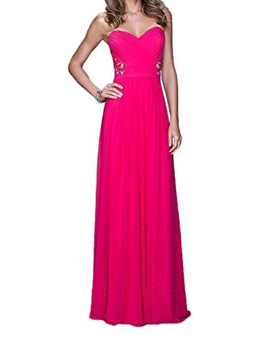 Ballkleider Abendkleider Herzausschnitt La Braut a Marie Brautmutterkleider Lang Geraft Spitze Grau Pink Linie YxF1xBq
