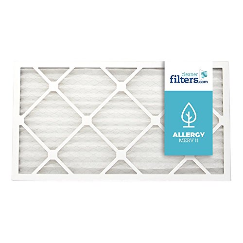 Cleaner Filters 14x20x1 Air Filter, Pleated High Efficiency Allergy Furnace Filters for Home or Office with MERV 11 Rating (1 Pack)
