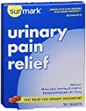 Sunmark Urinary Pain Relief Tablets - 30 Tablets, Pack of 6