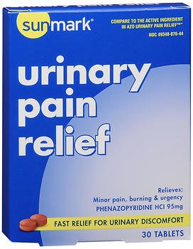 Sunmark Urinary Pain Relief Tablets - 30 Tablets, Pack of 6 by Sunmark