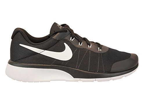 NIKE Boy's Tanjun Racer (GS) Running Shoes (6 Big Kid M, Dark Grey/White/Black)