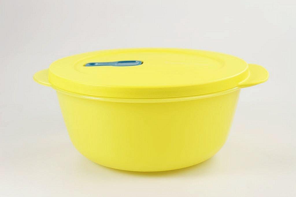 TUPPERWARE CrystalWave Rotondo bowl 1, 5 L giallo 15524
