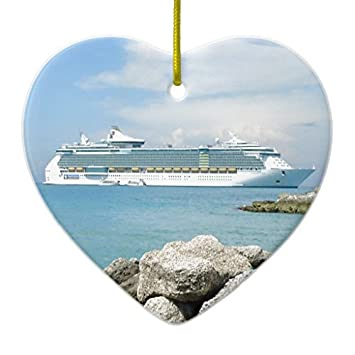 christmas tree decorations cruise ship at cococay ceramic ornament heart christmas ornament crafts xmas gift - When Do Cruise Ships Decorated For Christmas