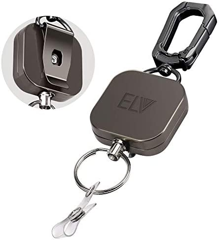 LV Retractable Carabiner Keychain Extension product image