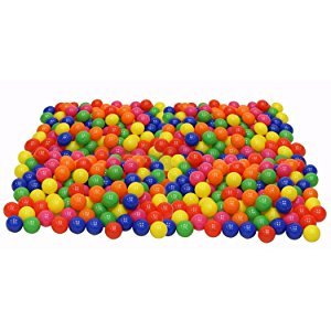 Plunkadoodle Plastic Pit Balls Bright Colors Bag of 200 in a Mesh - Bag Play Pit Of Plastic