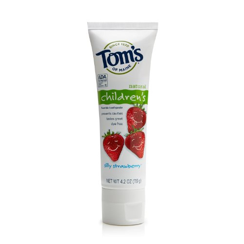 Tom's of Maine Anticavity Children's Toothpaste, Silly Strawberry, 4.2 Ounce (Pack of 6) (Maine Anticavity Toms Toothpaste Of)
