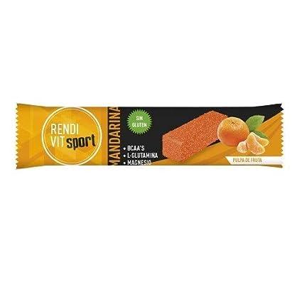 Rendi Vit Sport Barritas energénicas/Mandarina / BCAA L-Glutamina Magnesio/Sin Gluten