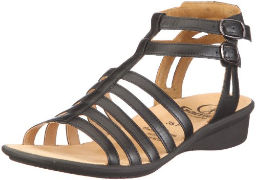 Ganter Fairy, Weite F 1-203141-0100 - Sandalias de vestir de cuero para mujer Negro
