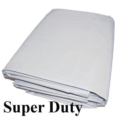(18 Mil 10x20 Canopy Replacement Top PVC Vinyl Super Duty Valance Tarp (White))