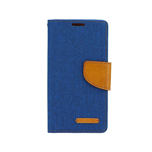 Elegante custodia a libro Flip Case per iPhone /6S, Huawei P9Lite Custodia Cover Book Case blu marrone