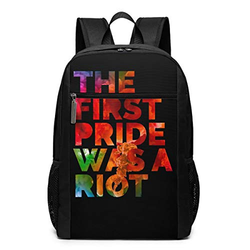Pride Parade NYC 50th Anniversary Gay LBGTQ Rights 17 Inch Slim Laptop Backpack, Large Backpack For Travel And Business ()