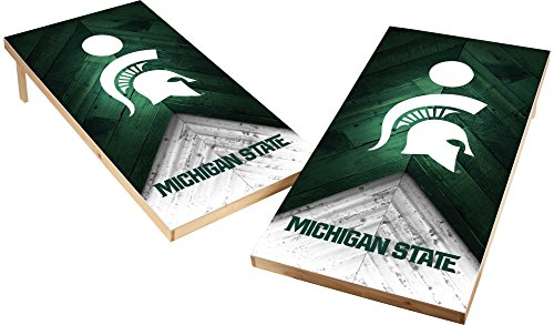 Wild Sports NCAA College 2'x4' Michigan State Spartans Cornhole (Michigan State Bean Bag)