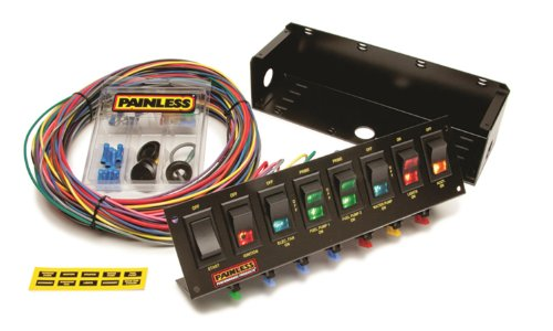 Painless Wiring 50303 Race Car 8 Switch Panel
