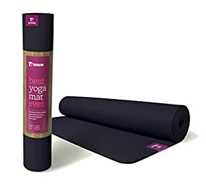 "For Unheated Yoga Tomuno 68"" x 24"" x 5mm Natural Rubber Non Slip Sticky Eco Friendly Yoga Mat - Cadet Blue"