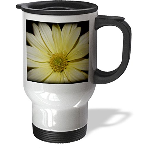 WhiteOaks Photography and Artwork - Daisy Flowers - Macro Daisy is a photo of a yellow daisy flower in macro - 14oz Stainless Steel Travel Mug (tm_211953_1)